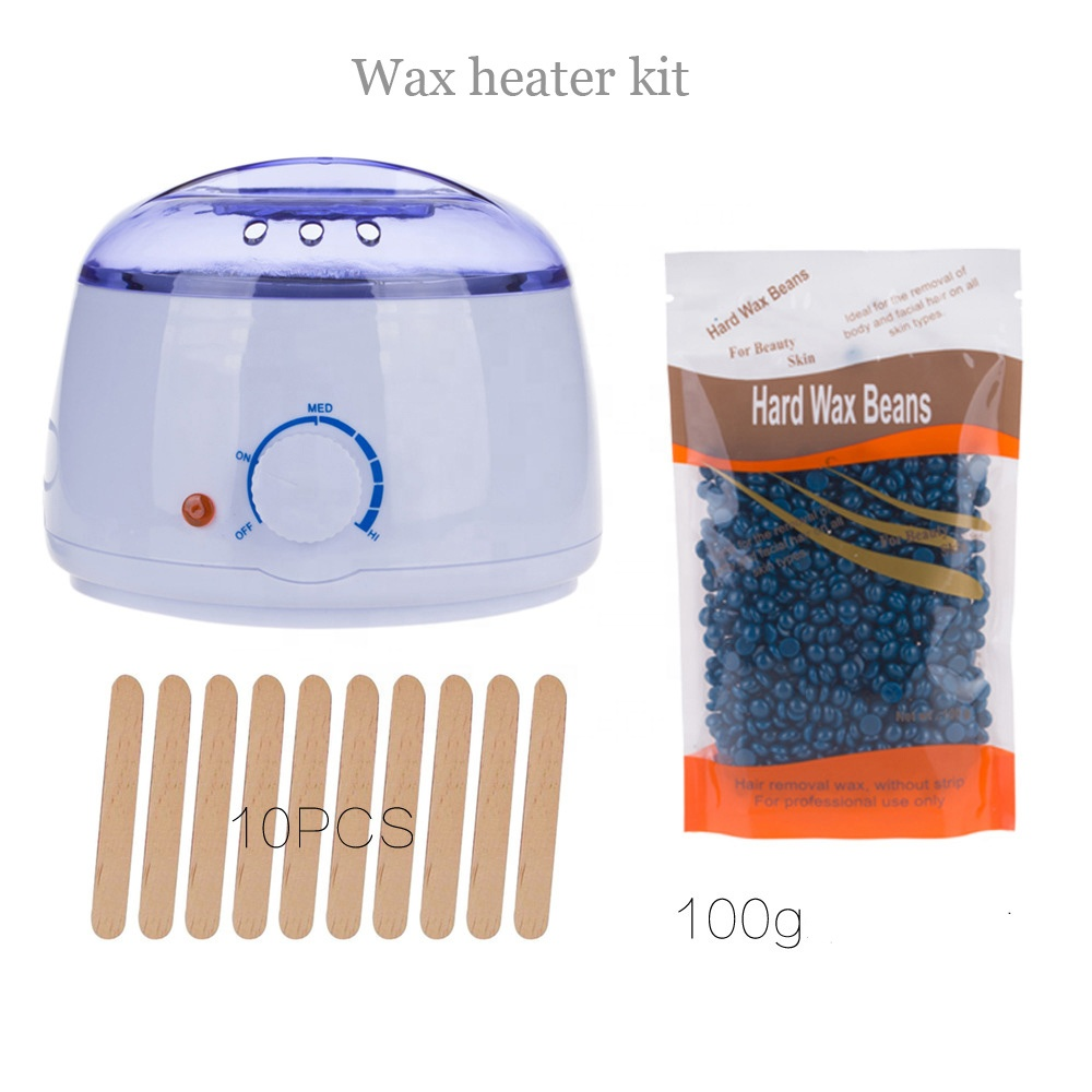 High quality 500cc home hair remover kit Electric Machine hot melt pot 300g wax heater depilatory warmer bean stick