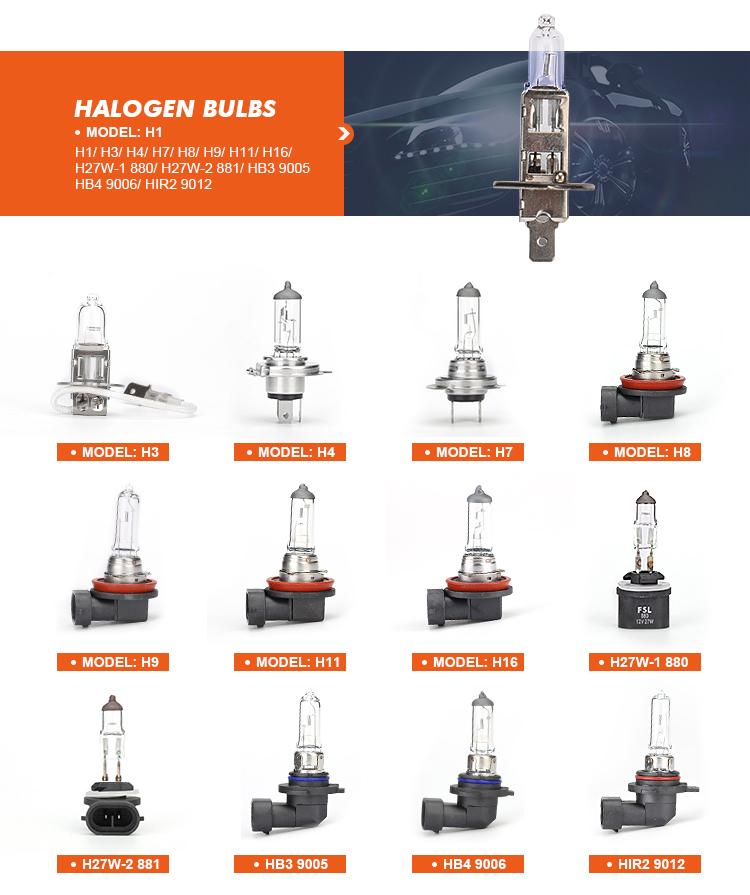 Auto lámpara Auto H4 bombilla halógena lámpara H4 faros halógenos