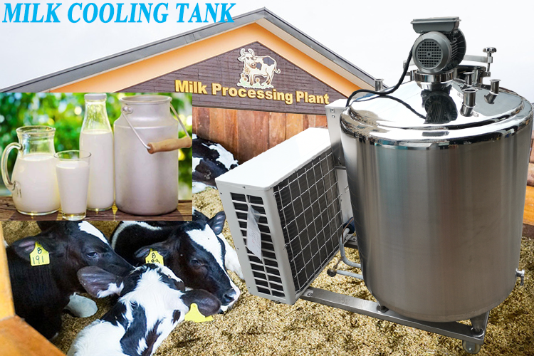 Factory price Stainless steel tank dairy machine cooler refrigeration milk cooling tank