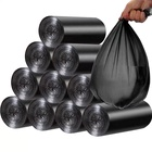 Breakpoint type black garbage bags recycled plastic bags hdpe t-shirt waste bags