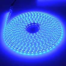 Кухонная лампа для шкафа SMD5050 AC220V 60 светодиодов/м штепсельная вилка европейского стандарта RGB гибкая светодиодная лента для кухни RGB 5050 Свет...(Китай)