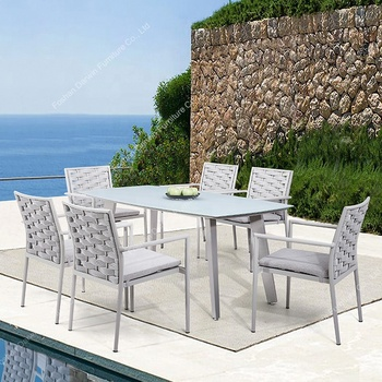 Strange Modern European Design Rope Garden Furniture Rattan Wicker Outdoor Dining Table Set Garden Sets Buy Garden Sets Outdoor Rope Furniture Outdoor Gmtry Best Dining Table And Chair Ideas Images Gmtryco
