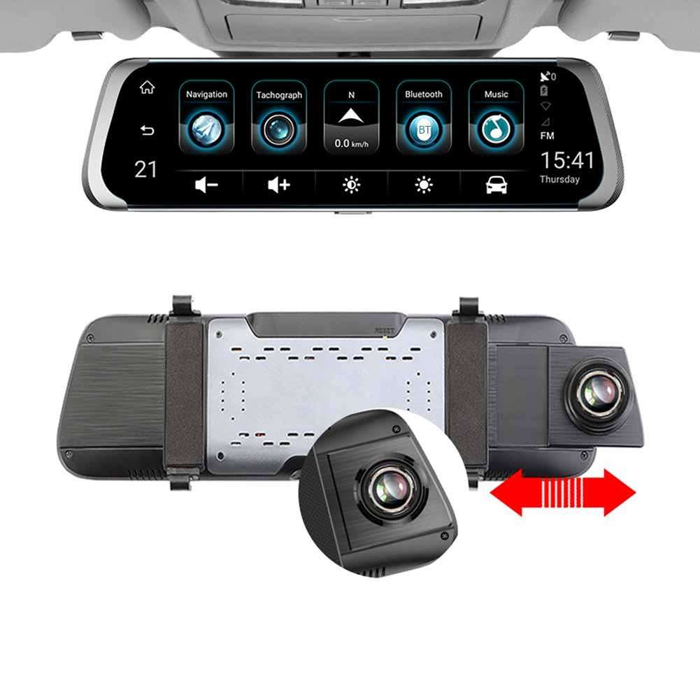 High quality 4g Full HD 1080P Dash Camera and Reverse Camera with Rear View Mirror dash cam