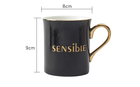 Mug Sublimation Mugs Nordic Style 300ml Ceramic Coffee Mug With Golden Handle Porcelain Cup For Coffee Ceramic Mug Sublimation Mug
