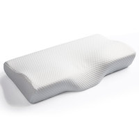 Butterfly Shape Memory Foam Cervical Contour Pillow With Color Box