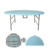 Blow Molded Outdoor Folding Table Waterproof 6ft Lightweight Folding Round Plastic Table