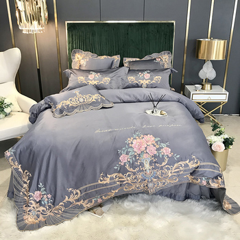 2020 new animal paint linen fringe duvet cover sheets for double bed