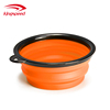 Portable TPE Silicone Collapsible Colorful Pet Dog Bowl