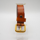 OEM womens 100% genuine leather belts custom high quality ladies leather belt with bag
