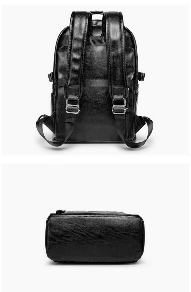 2019 Customized Fashional PU leather Backpack Outdoor Travel Waterproof Backpack