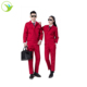 Red color cotton 100% industrial work wear industrial uniform for gold mine workers