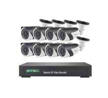 8 canali H.265 NVR POE HD 1080P cctv IP camera kit 8ch home video telecamere di sorveglianza del sistema