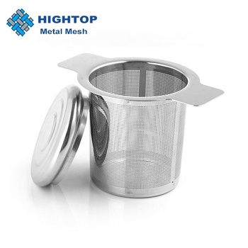 Lid Tea and Coffee Filters Stainless Steel Tea Infusers Basket Reusable Fine Mesh Tea Strainer with 2 Handles