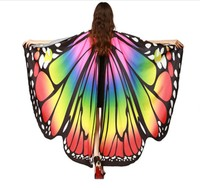 Halloween cape spinning big butterfly belly dance Adults cape dancing props Halloween butterfly USA America Flag cape Cloak