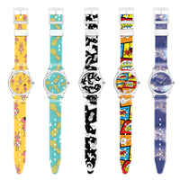 Customize Logo Watch Face Printed OEM Plastic Custom Design Own Character Watch Customized Watch Dial Strap