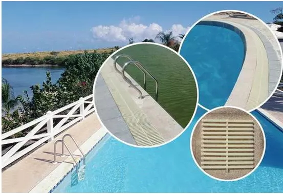 ABS PYC Pool Gutter Grates Water Swimming Pool Grating Gutter