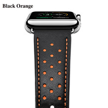 Кожаный ремешок JANSIN для Apple Watch, 42 мм, 38 мм, 44 мм, 40 мм, серия 5, 4, 3, 2, браслет для Apple Watch, ремешок iWatch(Китай)