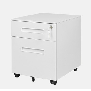 Hot Sale 2 Drawer Steel Movable File Cabinet Desk Under Metal Mobile Pedestal