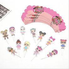 24 шт. LOL куклы с сюрпризом торт карты фрукты плагин для детской вечеринки на день рождения плагин lol Сюрприз на день рождения игрушки набор 10 ...(Китай)