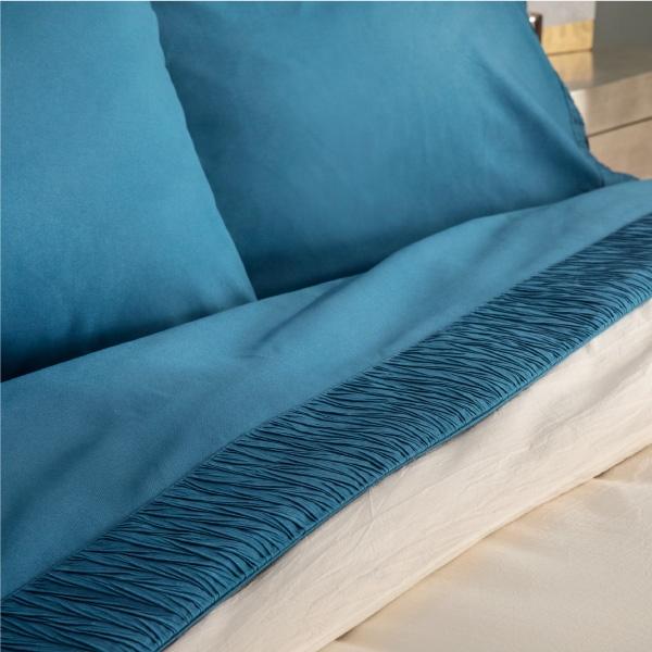 Schöne 3Pcs 4 Stück Decor Home Marke Weiß Twin Königin Größe Mikrofaser Geprägte Bettlaken Set Mit Tröster