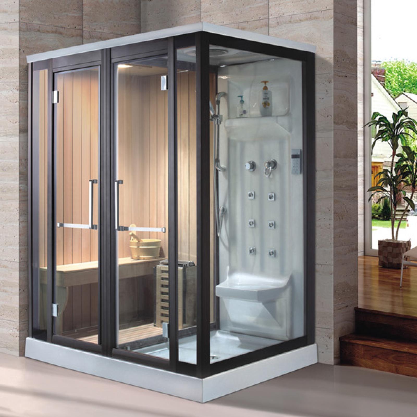 steam sauna shower cubicles combination
