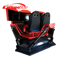 Big Screen Showing VR Dynamic Effects Wonderful 9D Movies 9D VR Simulator Racing Car Game Machines For Indoor Playground