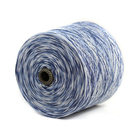 Charmkey new soft 100% cotton tape yarn for crocheting