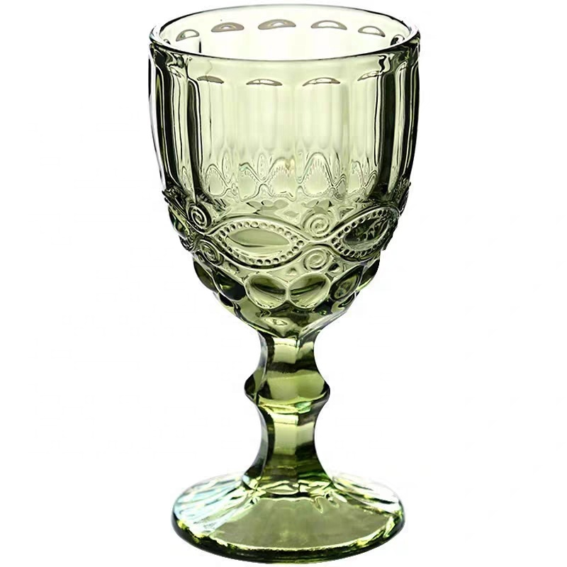 300 ml antique colorful crystal unbreakable wine <strong>glass</strong> for juice
