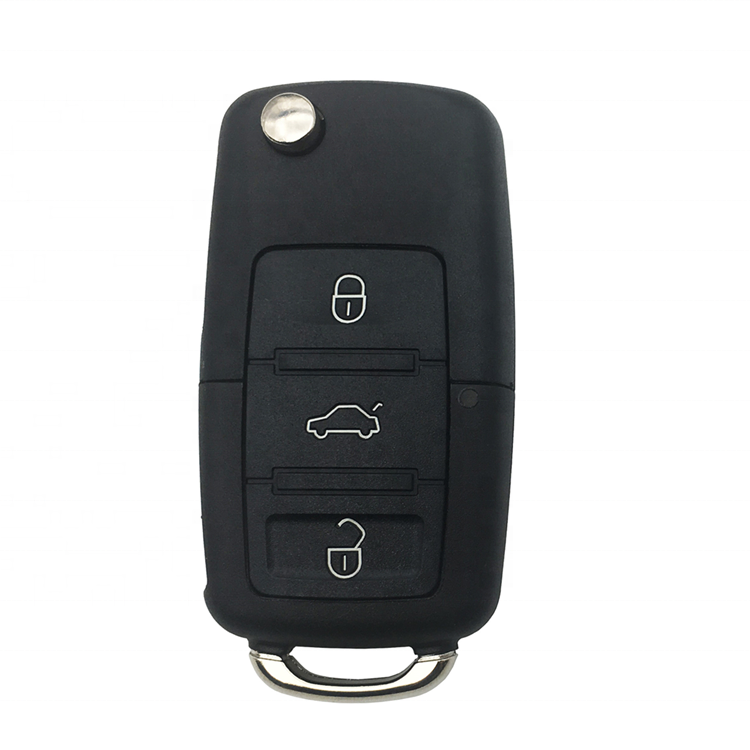 3 Buttons Flip Folding Car Remote Cover <strong>Key</strong> Shell Case Fob For VW Passat Polo Golf Touran Bora Ibiza Leon Octavia Fabia