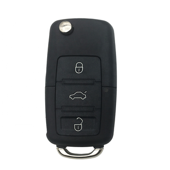 3 Buttons Flip Folding Car Remote Cover Key Shell Case Fob For VW Passat Polo Golf Touran Bora Ibiza Leon Octavia Fabia