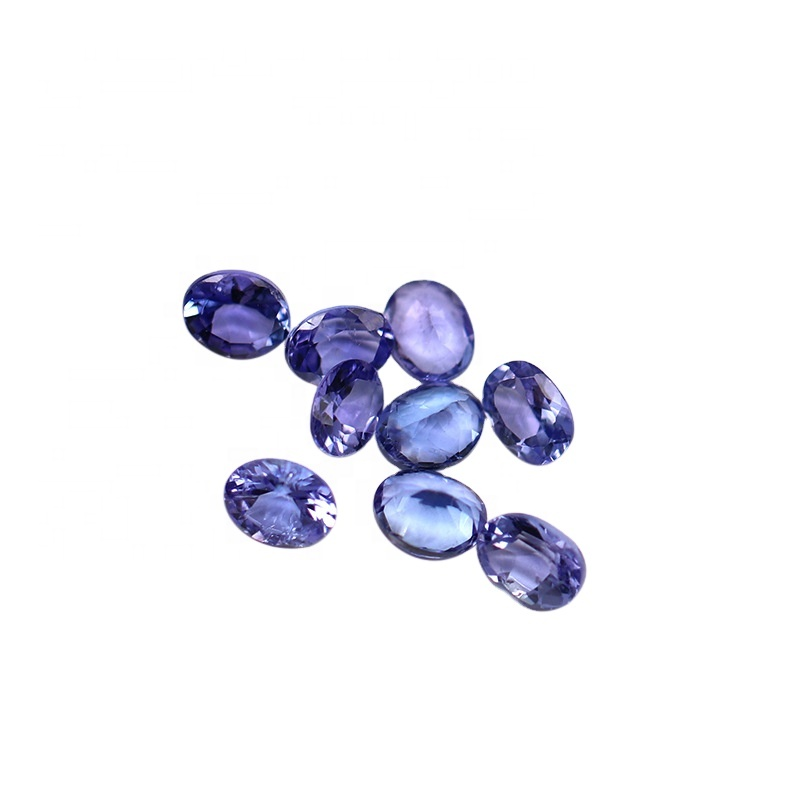 Kahkashan Jewelry Natural Tanzanite Purple Loose Stone Jewelry Making 3*5mm 5*7mm Oval cut for Jewelry Making For Wholesales