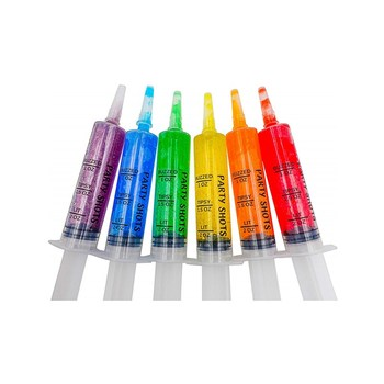 Jello Shot Syringes - Perfect Shooters for a College Party, Drinking Games and Halloween Events
