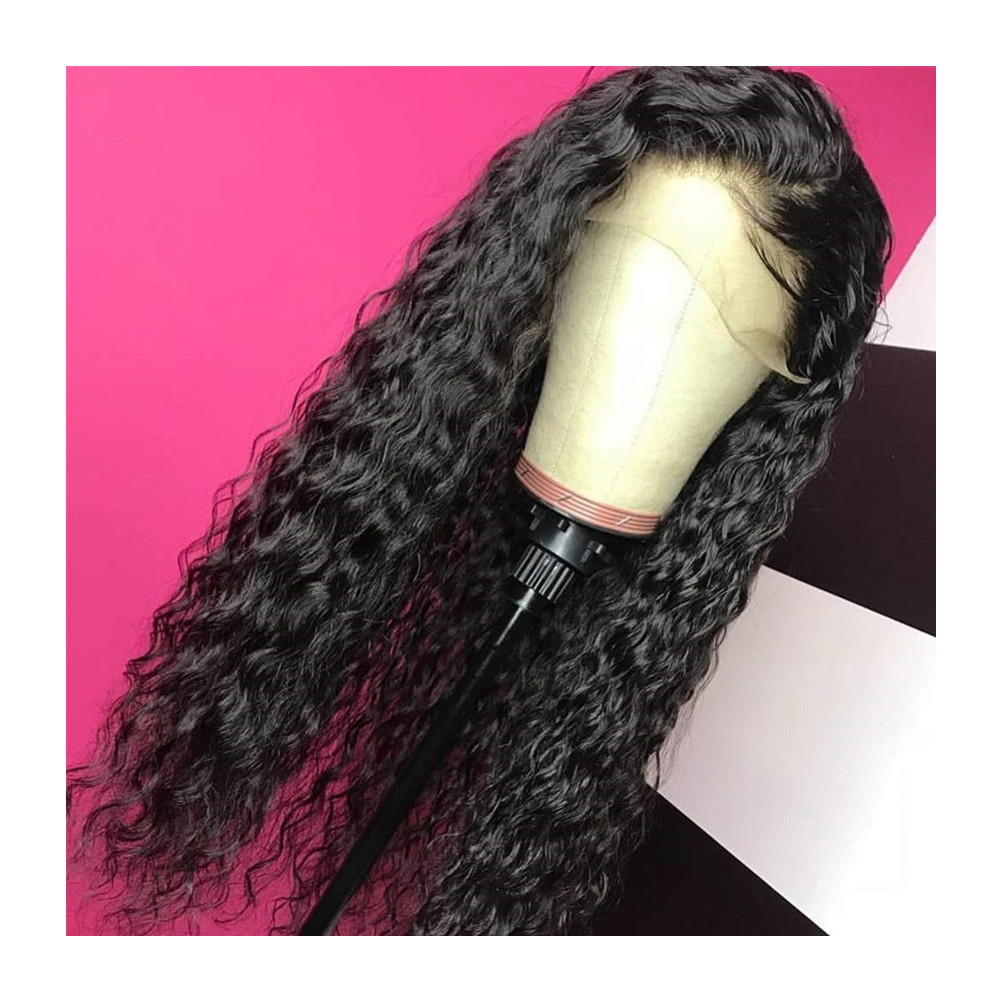Wholesale Full Lace Wig Vendors Raw Indian Transparent Natural Lace Front Wig Water Wave Preplucked Human Hair Full Lace Wigs