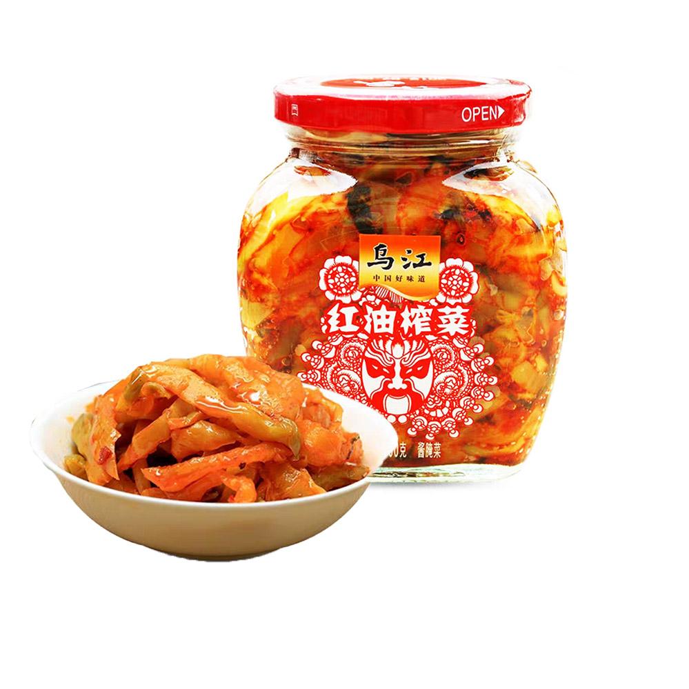 Уцзян консервированный острый чеснок-вкус консервированные соленые огурцы смак