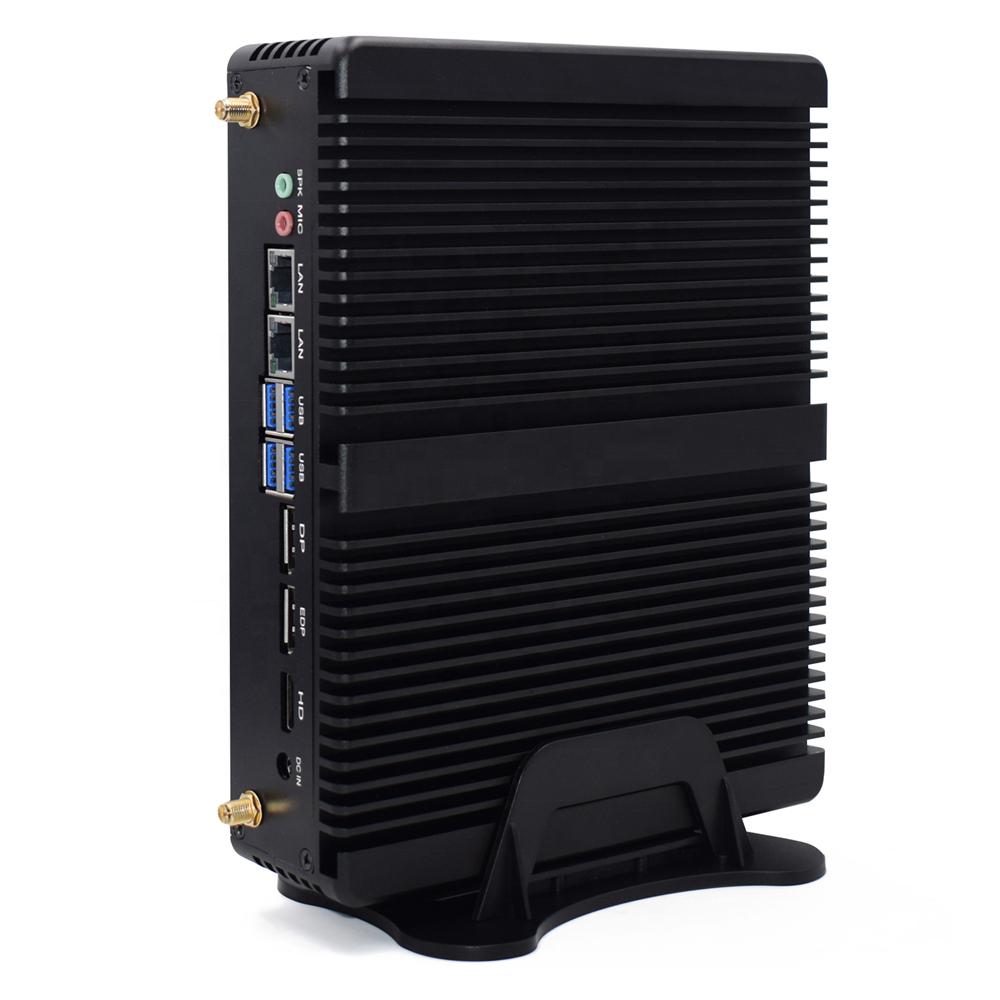 Gen8 मिनी पीसी I5 8250U Windows10 DDR4 16G रैम 512G SSD M.2 2 लैन 3 uHD पोर्ट 4K HTPC गेमिंग ITX पीसी सर्वर Fanless डेस्कटॉप लिनक्स पीसी