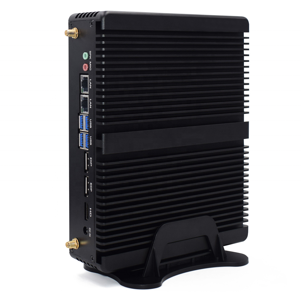 Gen8 Mini PC I5 8250U Windows10 DDR4 16G RAM 512G M.2 SSD 2 LAN 3 uHD Port 4K HTPC Gaming ITX PC Server Fanless Desktop Linux PC