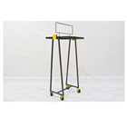Hot clothes shop shelf fixtures metal iron retail stand clothing store display rack with 4 wheels