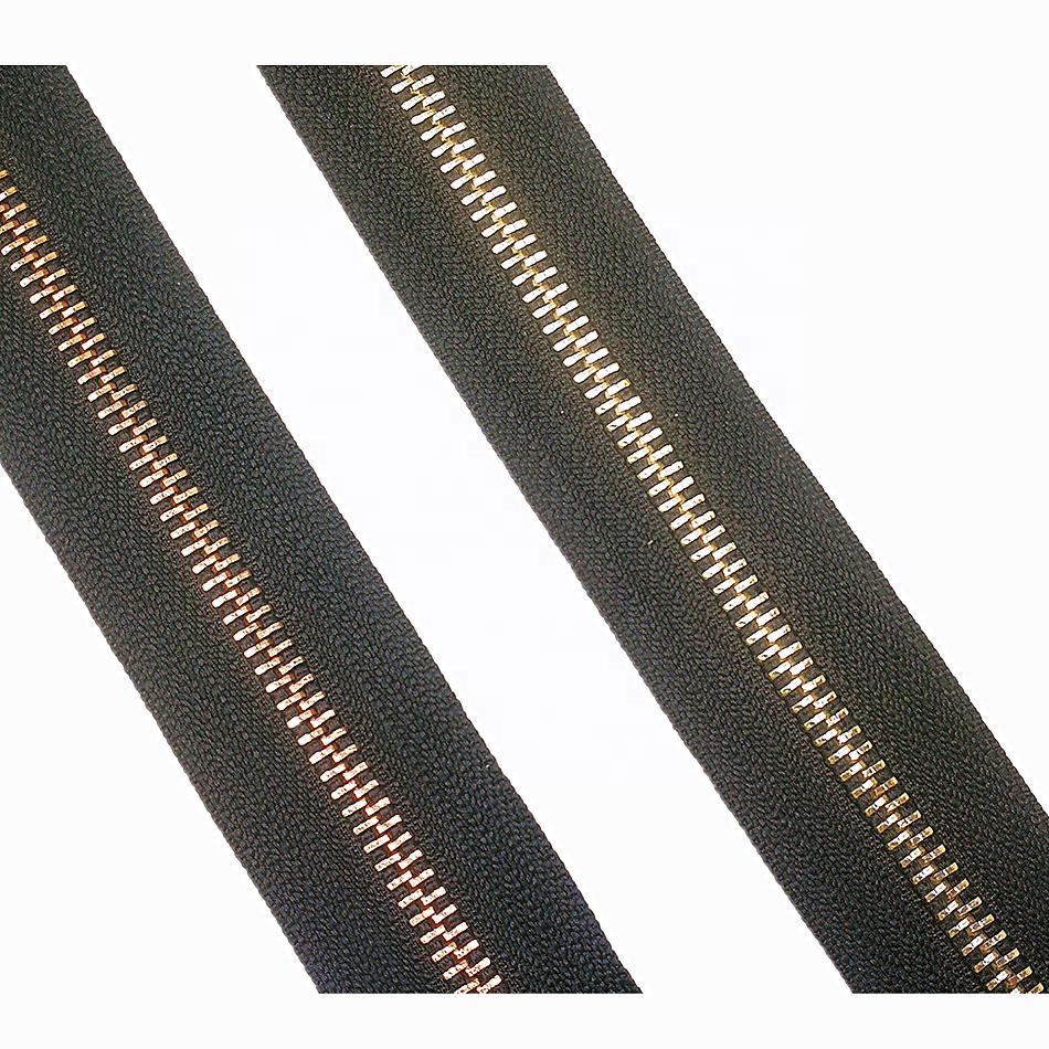 블랙 방수 지퍼 의류 가방 긴 체인 방수 지퍼 롤 의류 지퍼 홈 섬유 가방