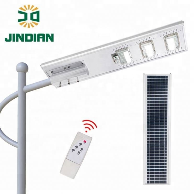 Jindian 2 Years Warranty 150 watt IP65 die-<strong>casting</strong> aluminum saving solar street <strong>light</strong>