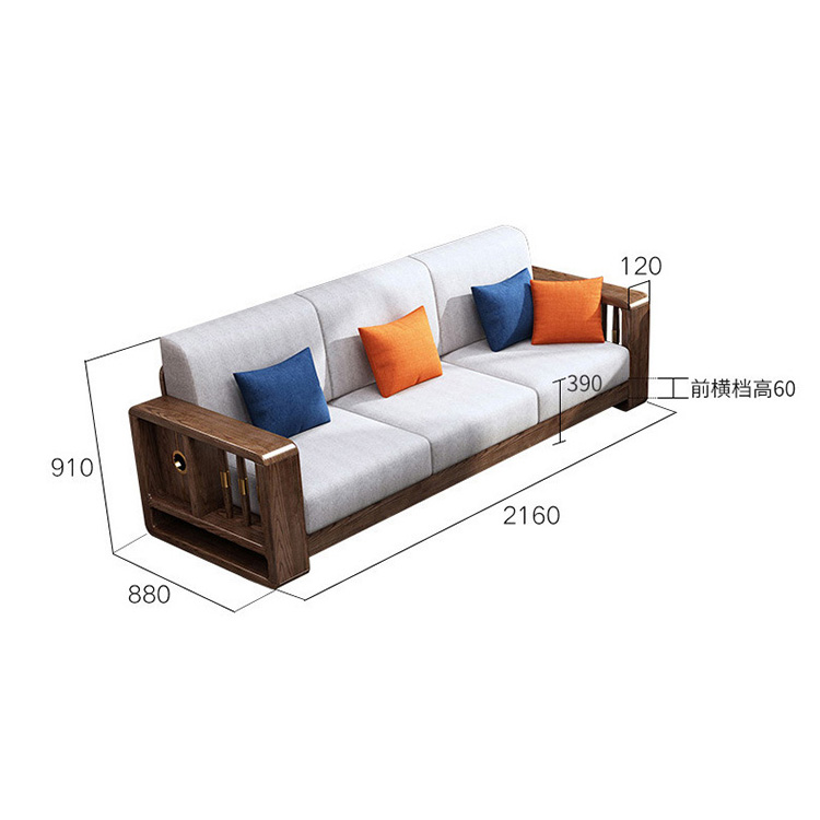 product-BoomDear Wood-Shaped Sets Sectional Model Wood Chair Drawing Room Set Oak Solid Frame White -1
