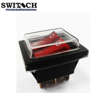 10A 250V 16A 125V ON OFF DPDT Illuminated waterproof 6 Pins Rocker Switch Snap-in