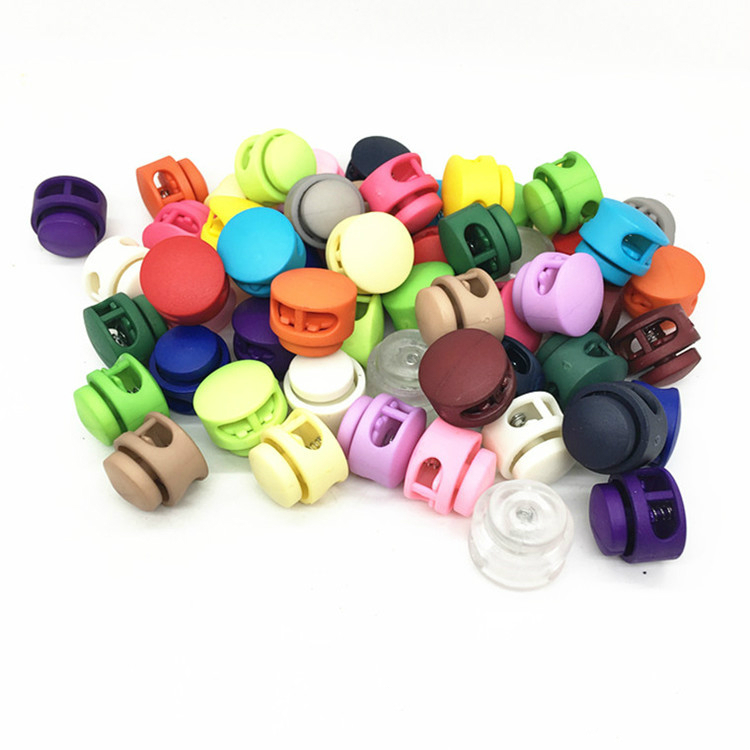 Custom 2 Holes Toggle Clip Buckles Tighten Elastic Plastic Stopper Cord For Rope