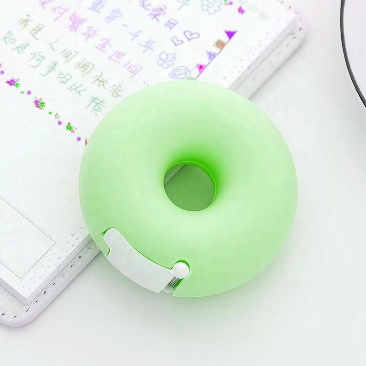 Hot sale 2% discount promotion Candy Color Sweet heart DonutTape Dispenser with Tape/Circle cake cutter/Donuts tape cutter
