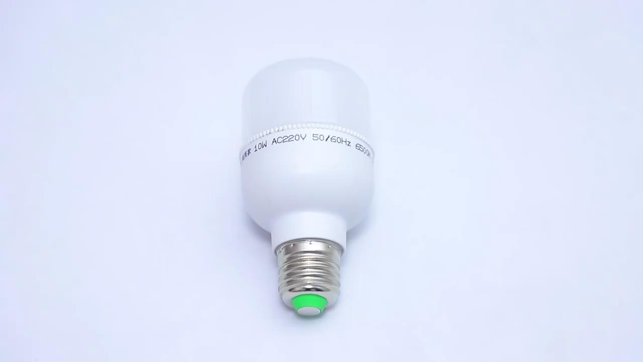 B22 E27 tutucu T şekli 2835 5W 10W 15W 20W 30W 40W 50W çin Led ampul üretici hammadde hafif Led ampuller, led ampul ışıkları