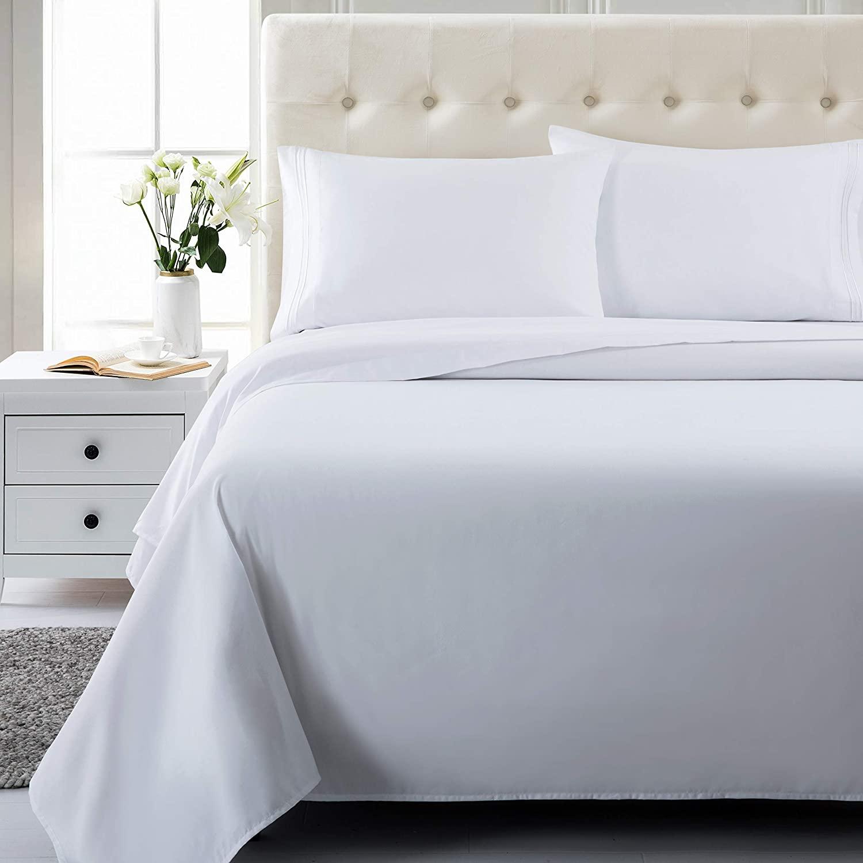 Soft Like 1800tc egyptian cotton sheet sets Home 4 Piece Microfiber Bed Sheet for Solid Color Comforter Bedsheet Bedding Set