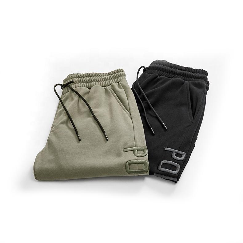 2019 stickerei Custom schweiß shorts Casual baumwolle shorts Mens Fashion Jogger baumwolle bestickt Lose Sweat-shorts mann