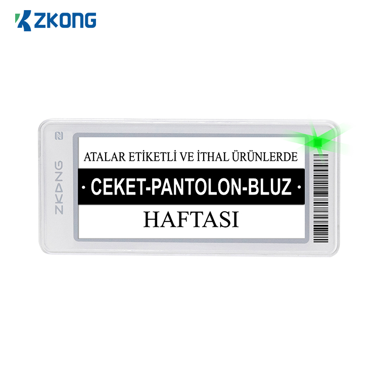 Zkong 2.9 inch Esl and pricing tag retail price tag display rfid price tag