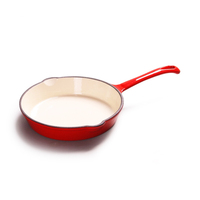 Cast iron cookware enamel cast iron metal handle for frying pan