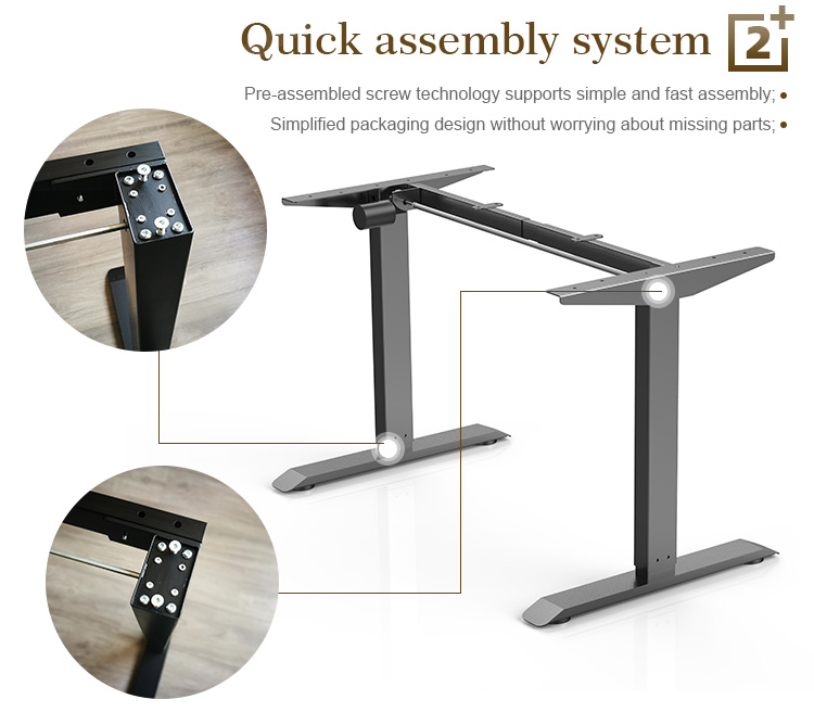 Simple Designed Electric Height Adjustable Study Desk Electric Lift Office Table Furniture