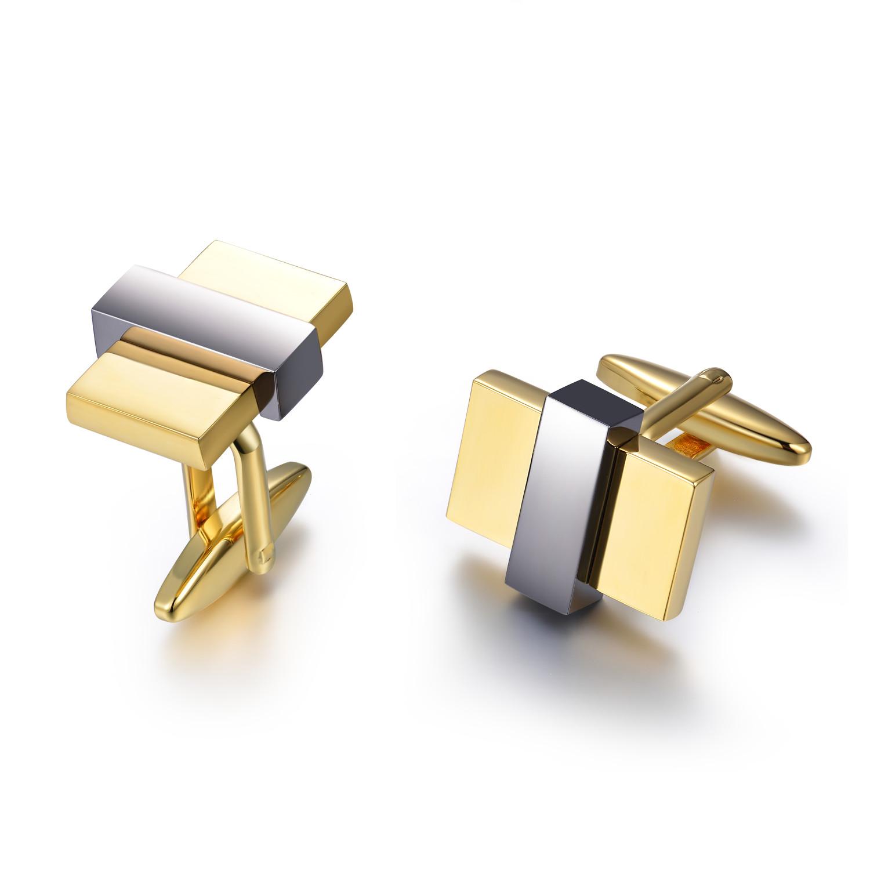 Classic High Polished Cufflink 925 Sterling Silver Cufflink Jewelry(图1)